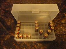 AA Battery Plastic Storage Box Bin Container HOLDS 50 BATTERIES !  (1) CLEAR