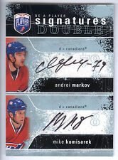 07/08 Be A Player Signatures #MK Andrei Markov & Mike Komisarek Dual Autograph