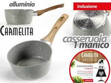 CASSERUOLA CARMELITA IN ALLUMINIO ANTIADERENTE INDUZIONE 18*8 CM MIL-745560