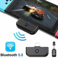 For Nintendo Switch/Lite Bluetooth 5.0 Adapter Transmitter HIFI Audio Tranceiver