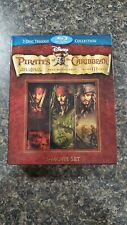 Pirates of the Caribbean Trilogy (Blu-ray Disc, 2011, 7-Disc Set)