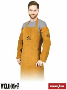 Leather Welding Sleeves with Non-Stick Liner, Heat & Flame Resistant Arm Protect