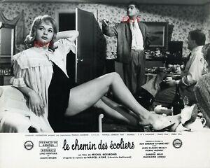 *Françoise Arnoul Le chemin des écoliers - Photo originale cartoline