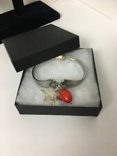 Pfaltzgraff Spoon Bracelet & Charms Stainless Steel Magnet Closure EUC