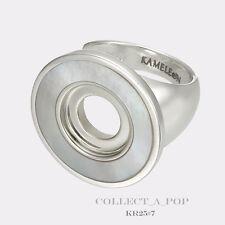 Authentic Kameleon Silver White Mother of Pearl Ring Size 8 KR025 KR25 *RETIRED*