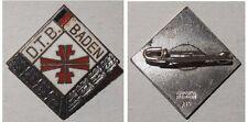 Emailliertes Abzeichen D.T.B. Baden Deutscher Turner-Bund / Silber 935