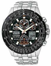 Citizen Eco-Drive Men's Skyhawk AT Flight Chronograph Atomic Watch JY0000-53E