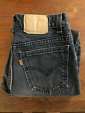 Women's High Waisted Vintage Levi's Orange Tab Jeans - Black 27'' x 26''