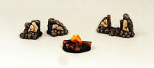 28mm Resin Stone Walls and Campfire-Terrain-Scenery-UNPAINTED-Alternative Armies