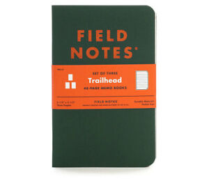 Field Notes Quarterly Edition: Trailhead - Ruled 3 Pack Memo Book