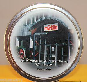 Märklin 98027 Special Car To Museum Opening 5 6. May 2001 Z IN The Tin Container