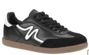 New Mitre Madero Mens Indoor Soccer Shoes Black White Sz 8.5 M