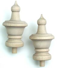 """Wood Finial Turning Pack of 10 Size 3"""" High"""