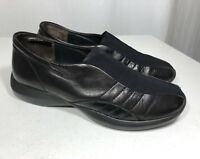 Paul Green Size 5 (Women's US 7.5 M) Black Leather Stretchy Sneaker Loafer Slip
