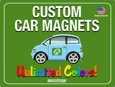 2- 12x24 Custom Car Magnets  Magnetic Auto Truck Signs