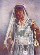 EGYPT. Egypt. An Arab Bride;  1900 old antique vintage print picture