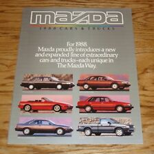 Original 1988 Mazda Car & Truck Full Line Sales Brochure 88 RX-7 MX-6 626 929