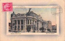 Postcard Brazil Rio de Janeiro Theatro Municipal Edit ca1912