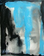 Modernist ABSTRACT Expressionist PAINTING Modern ART CANVAS SKY FALLING FOLTZ $