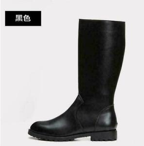 Military Mens German Leather Combat Officer Boot Riding Biker Black Boots Shoes