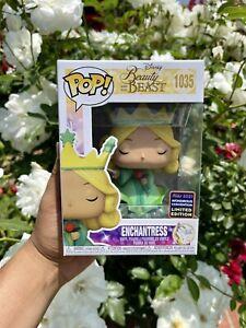 W/PROTECTOR 2021 Funko POP! Disney - Beauty & the Beast - Enchantress WONDERCON