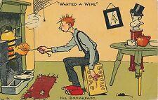 POSTCARD  COMIC   TOM  BROWNE  Wanted  a Wife