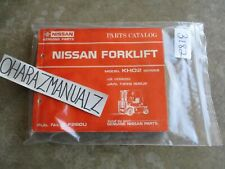 1996 Nissan Forklift Model KHO2 Series Parts Catalog Manual
