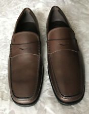 9fa6f6865be TODS Brown Leather Penny Loafers Quinn Driver Moccasins Shoes Size 5 -NWOB
