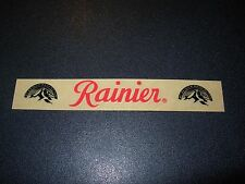 RAINIER Washington Rectangle Mountain STICKER decal craft beer brewery brewing