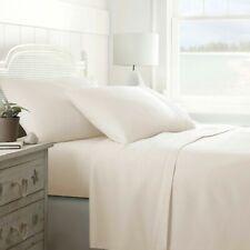 Merit Linens Pocket Microfiber 4 Bed Sheet Set King Ivory Wrinkle Stain