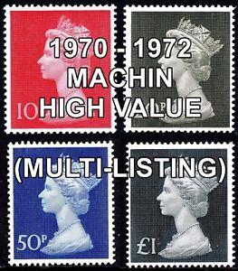 1970-72 SG829 -  SG831b Machin Definitives (Multiple Listing) Unmounted Mint
