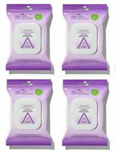 Almay Longwear Makeup Remover Cleansing Towelette 25 Biodegradable Wipes 4 Pack