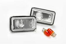 Porsche 968 91-95 Clear Side Indicators Repeaters Pair Set Left Right With Bulbs