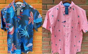 Tommy Hilfiger Palm Leaf Print Shirt Camisa para Hombre