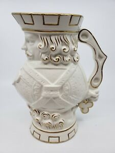 Antique Jack of Clubs Gold and White Tankard, C. 1842