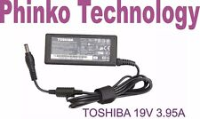 NEW Genuine Original Adapter Charger for TOSHIBA Satellite C850 C850D,19V 3.95A