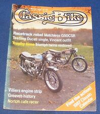 CLASSIC BIKE MARCH 1987 - RACETRACK REBEL MATCHLESS G50CSR