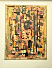 "Roger Bissière ( 1886-1964). Lithographie. "" Composition"" pv 193."