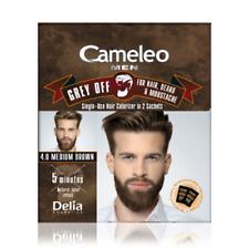 Delia CAMELEO MEN Grey Off Medium Brown Hair Beard & Mustache 2 SACHETS