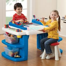 Desk Stool Activity Art Drawing Table Building Block Toys Storage Kids Play Fun