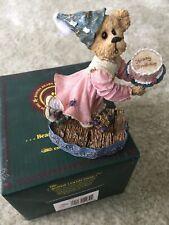 "Boyds The Shoe Box Bears ""Katie B Howold Not Tellin� Happy Birthday Nib #228362"