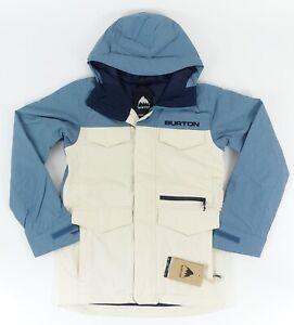 Burton Covert Jacket Slim in Almond Milk/Storm Blue SZ. S ~ Brand New!