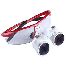 Dental 35x Surgical Medical Binocular Loupes Portable Led Head Light 3w Red