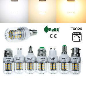À Variation E27 E14 B22 7W LED Maïs Ampoules Clair 5730 SMD Lampe 220V 12V 24V