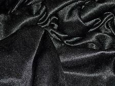 SATIN JERSEY-BLACK -DRESS FABRIC-FREE P&P