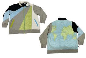 Air Jordan Mens Jacket Full Zip WORLD MAP Track Suit Jacket Size 3XL XXXL