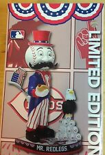 2016 Mr Redlegs Uncle Sam Bobblehead Cincinnati Reds Limited Edition 250! Mr Red