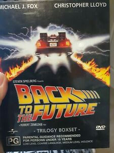 Back To The Future Trilogy Boxset DVD 3-Disc - V/Good Condition Free Post  R:2,4