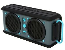 SkullCandy Air Raid Bluetooth Wireless Portable Speaker Grey/Black/Hot Blue