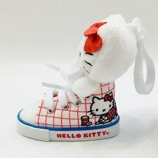 Sanrio Hello Kitty Red White Sneaker High Top Shoe Plush Doll Mascot Keychain
